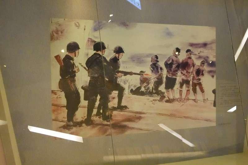 20190418-不同立場者,看待二二八事件會有不同的態度,有的形容為秩序的回歸,有的則是反革命勢力對革命勢力的屠殺,也有人認為這是中國霸權對台灣人民的欺凌。(攝於台北二二八紀念館,許劍虹提供)
