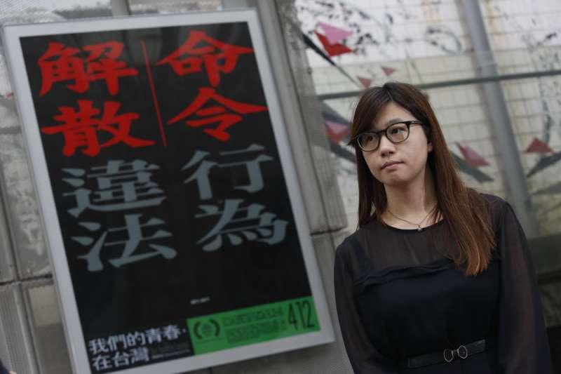 傅榆籌拍7年的紀錄片《我們的青春,在台灣》4月10日舉行特映。(郭晉瑋攝)
