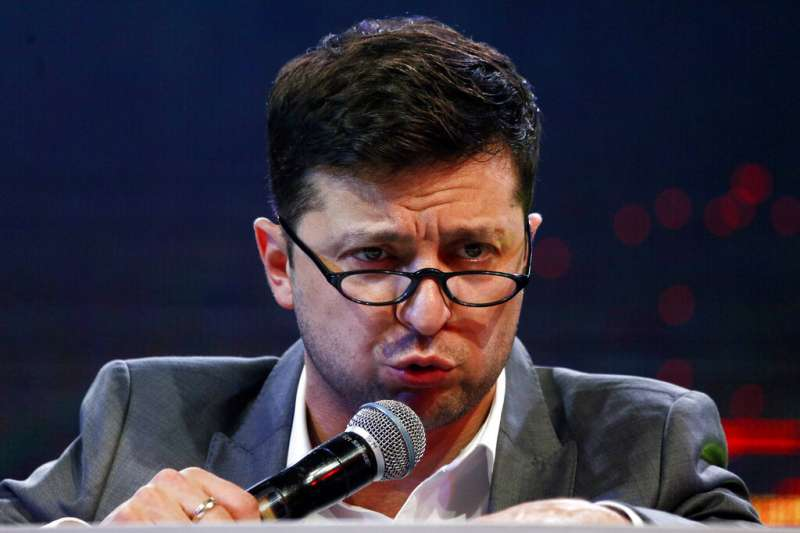 2019年烏克蘭總統大選候選人,喜劇演員哲連斯基。(AP)