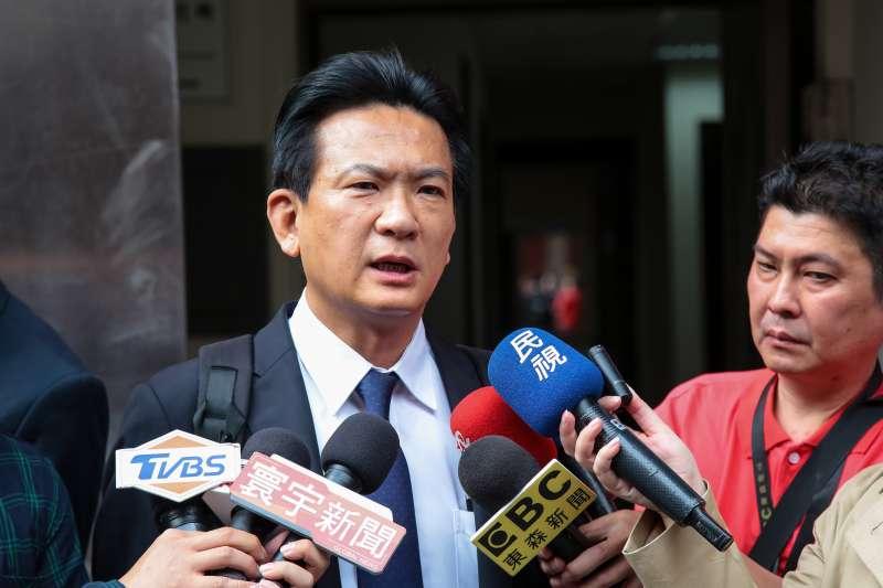 20190419-民進黨立委林俊憲19日於立院接受媒體聯訪。(顏麟宇攝)