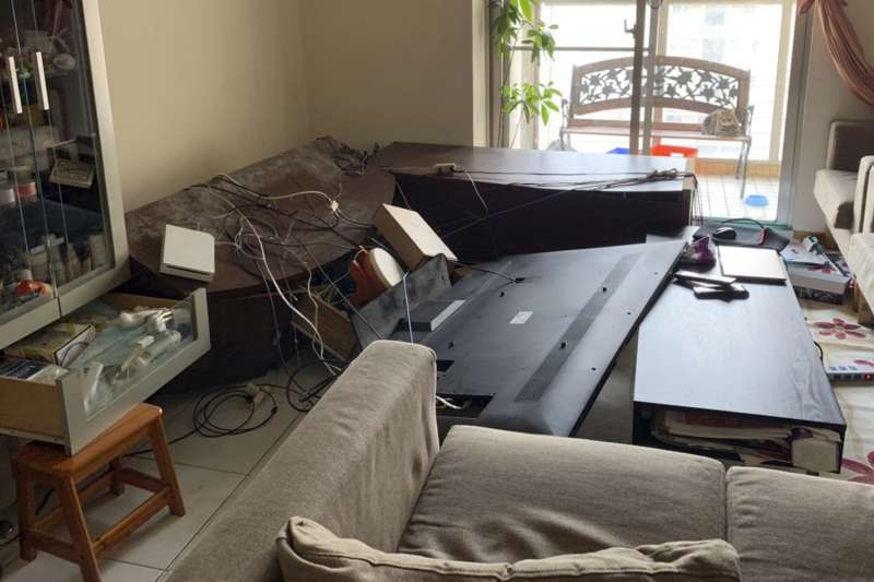 宜蘭外海發生芮氏規模6.0的有感地震,全台有感。對此,氣象局前地震測報中心主任郭鎧紋指出,此次地震僅約等於0.5顆原子彈的能量。示意圖。(資料照,美聯社)
