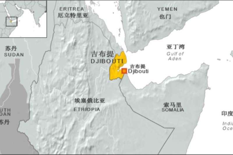 吉布地的地理位置圖(VOA)