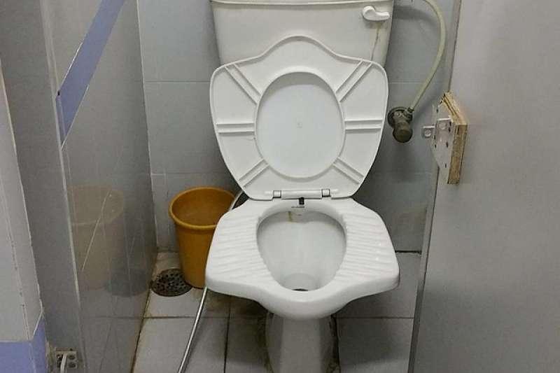 因為印度人習慣蹲著上廁所,所以就出現了這種改良版的「有翅膀的馬桶」。(圖/Kyle McCarthy@flickr)