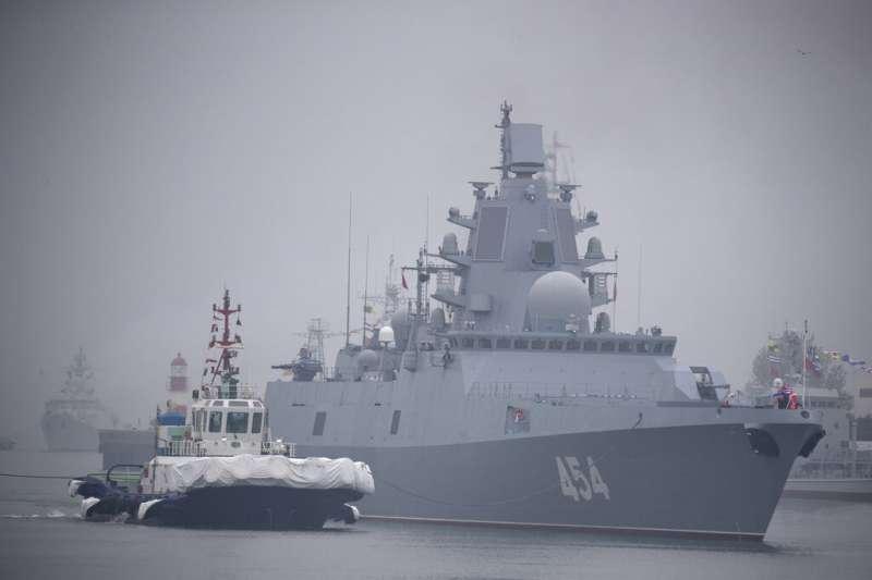 俄國海軍戈爾什科夫蘇聯海軍元帥號巡防艦。(美聯社)