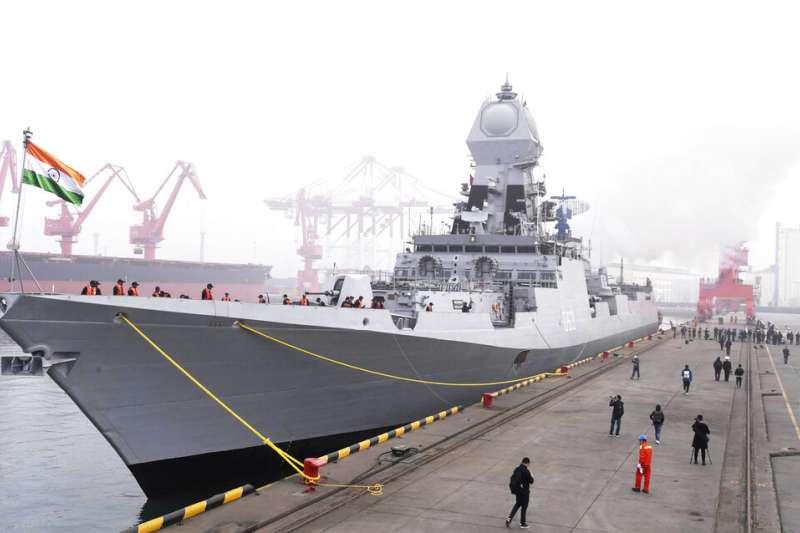 印度海軍「加爾各答號」驅逐艦。(美聯社)