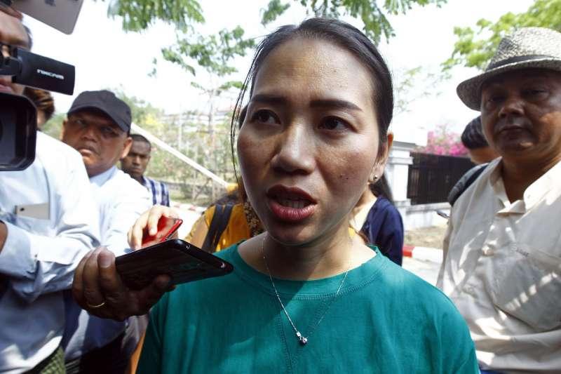 瓦隆的妻子潘艾雯。(AP)