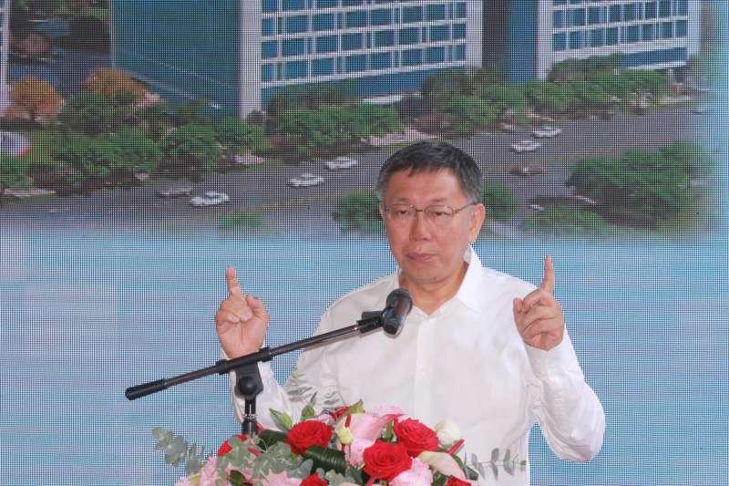20190423-台北市長柯文哲23日上午出席內科之心BOT案上梁典禮。(方炳超攝)