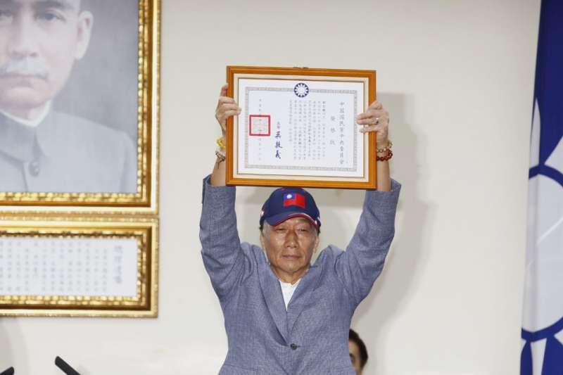 距離鴻海董事長郭台銘4月17日宣布參選後不到一周,其民調都有明顯下滑趨勢。(資料照,郭晉瑋攝)