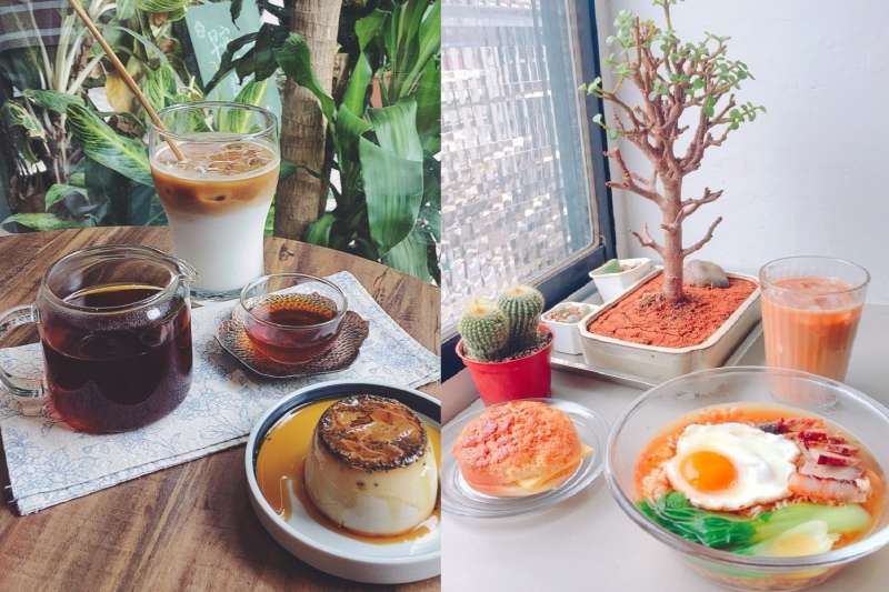 來去艋舺老街區來場悠閒下午茶吧!迷人甜點、道地港式茶餐廳,真的非常別緻。(圖/Menu美食誌提供,編輯合成)