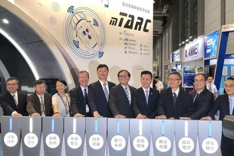 台灣車輛移動研發聯盟今在「台北國際汽車零配件與車用電子展」設立mTARC主題館,以「智能移動•車聯共享」為主題,展現創新技術與產業鏈結成果。(圖/mTARC提供)