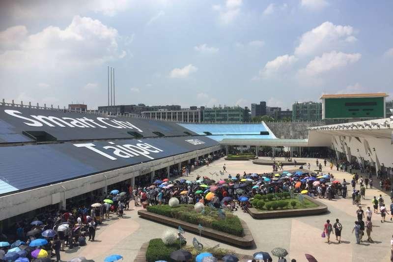 現今圓山站也成為人來人往的都市地帶(取自花博公園臉書)