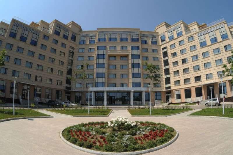 金正恩與普京會晤的遠東聯邦大學。(美聯社)