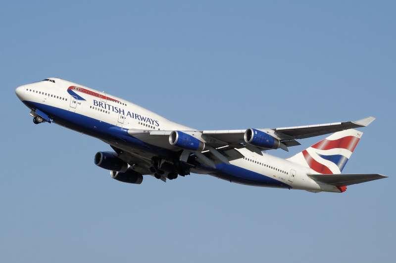20190425-英國航空的波音747-400。(取自維基百科)