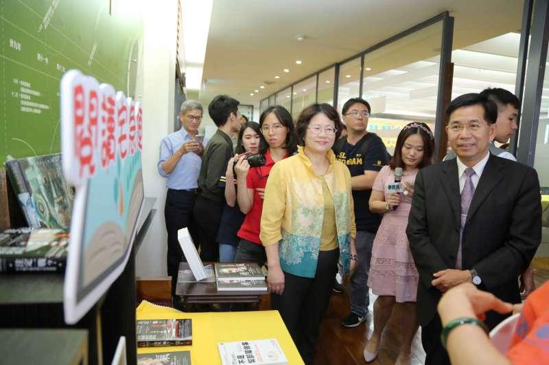 20190425-教育部長潘文忠今(25)日出席教育基金會終身學習圈啟動記者會。(教育部提供)