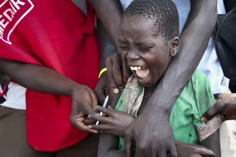 麻疹大流行陰影籠罩全球,南蘇丹疫情嚴重,公衛組織呼籲加強兒童疫苗接種(AP)