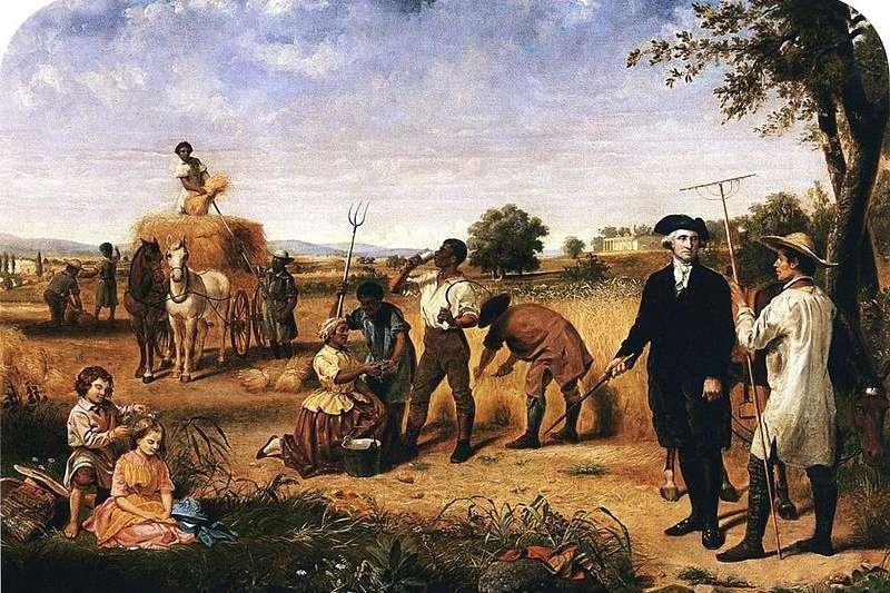 在華盛頓去世前,他的山莊共有317位奴隸,其中有123名是他名下的。(圖片取自維基百科)