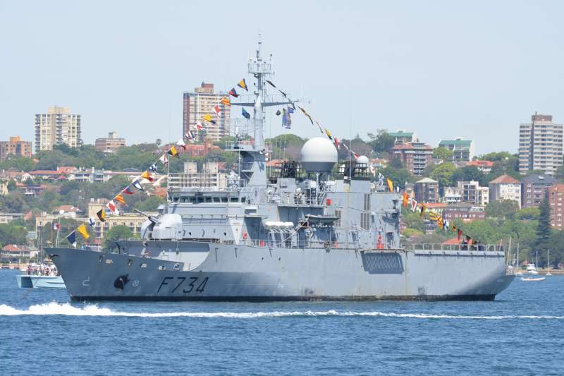 外媒報導,法國巡防艦「葡月號」(Vendemiaire)本月初通過台灣海峽。(資料照,取自維基百科,Saberwyn攝/CC BY-SA 3.0)