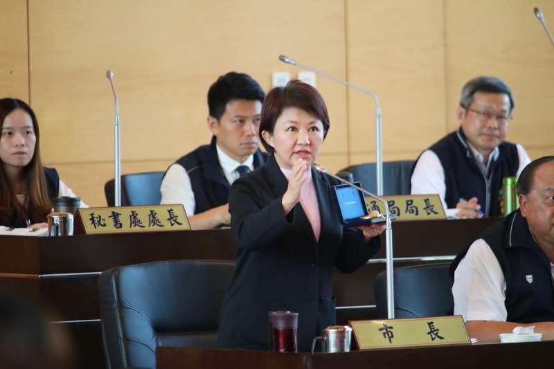 台中市長盧秀燕表示,感謝兩位前任市長及各界對花博的努力,對於前市府辦理花博的所有措施,她「概括承受」。(圖/台中市政府提供)