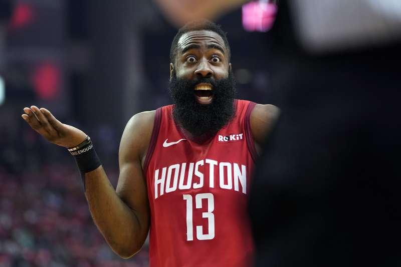 哈登今天得到26分、6籃板、6助攻,助球隊進入第二輪。(美聯社)
