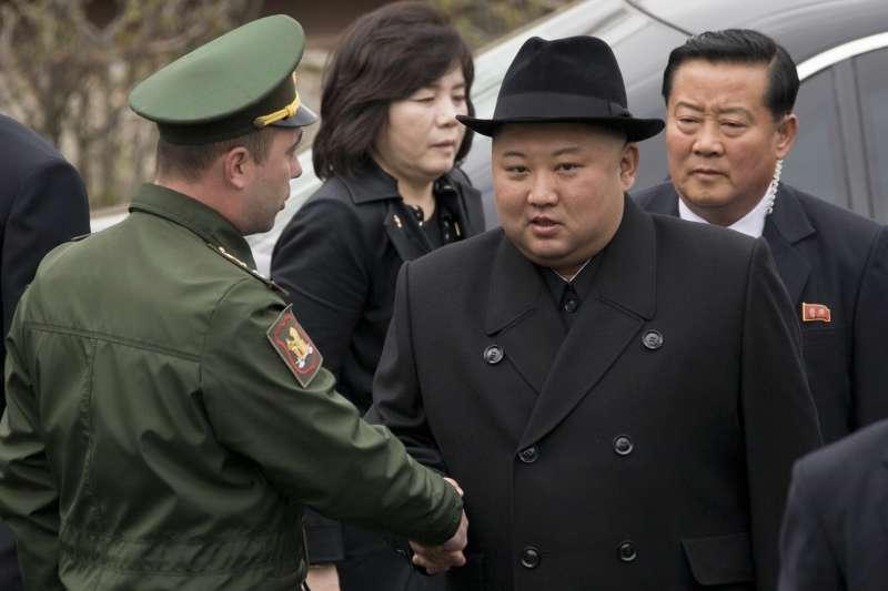 2019年普金會,朝鮮國務委員會委員長金正恩4月26日結束為期3天的訪俄之旅,從海參崴火車站乘專列返國(AP)
