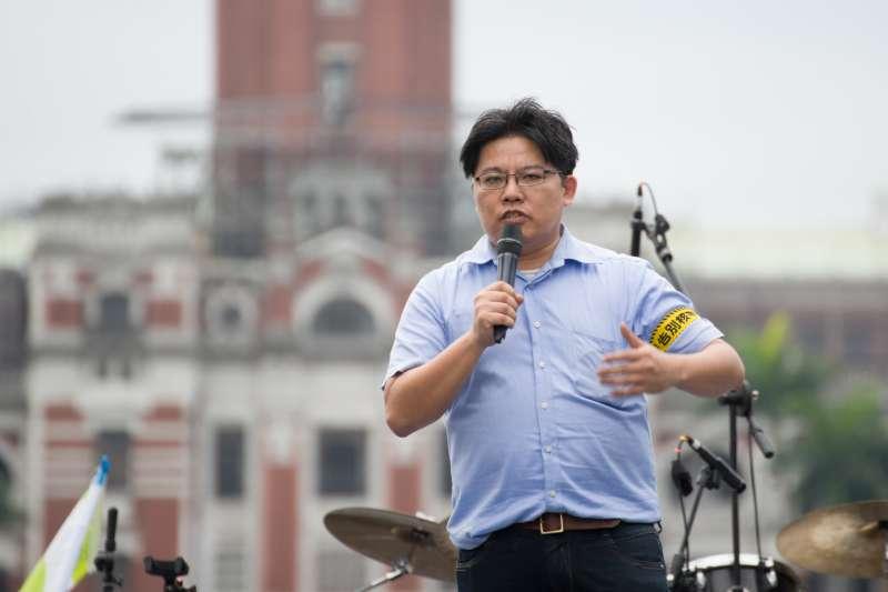 20190427-廢核大遊行,時代力量黨主席邱顯智。(甘岱民攝)
