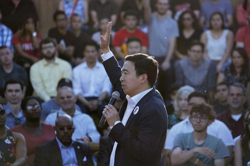 2019年,美國民主黨籍台裔企業家楊安澤投入總統選戰(AP)