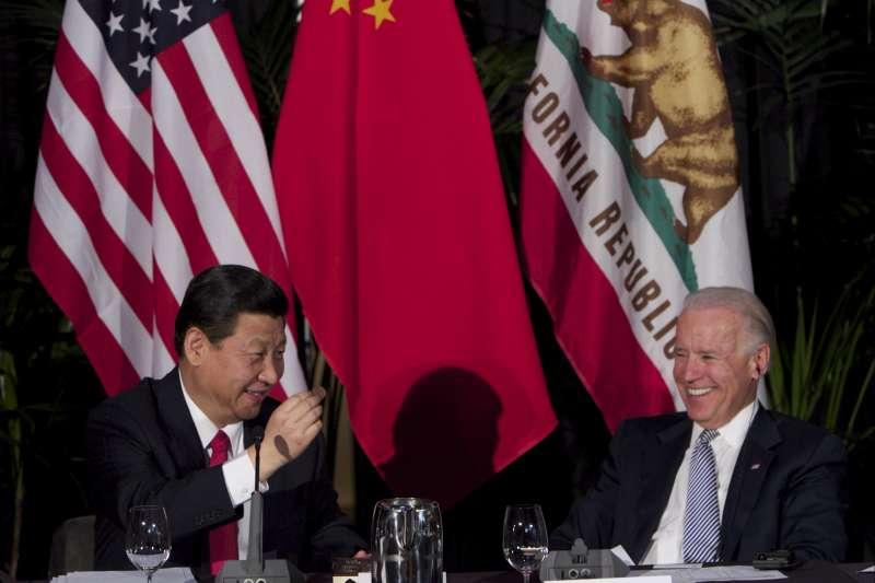 中國國家主席習近平與美國前副總統拜登(資料照,AP)