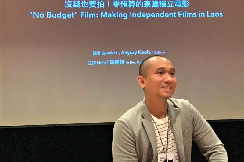 寮國電影導演齊歐拉(簡恒宇攝)