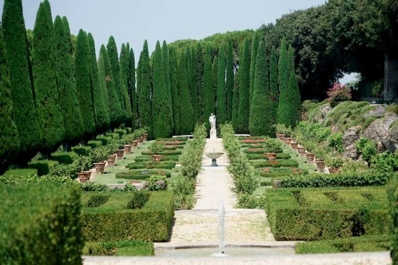 教宗夏宮的花園一景(曾廣儀攝)