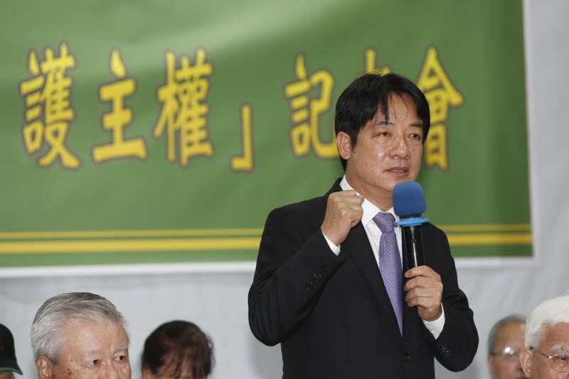前行政院長賴清德表態挺民進黨中央的初選時程表。(資料照片,郭晉瑋攝)