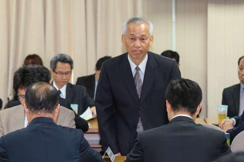 20190502-國防部政治作戰局長黃開森2日出席立院外交國防委員會。(顏麟宇攝)