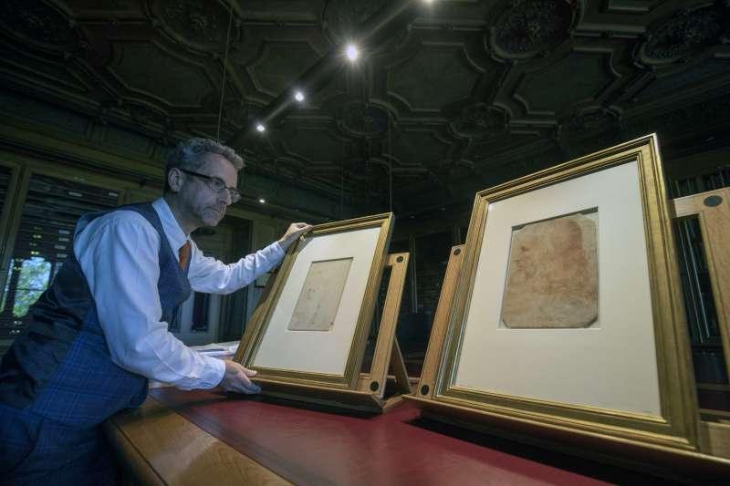 珍藏於英國王室溫莎古堡的達文西(Leonardo da Vinci)作品(AP)