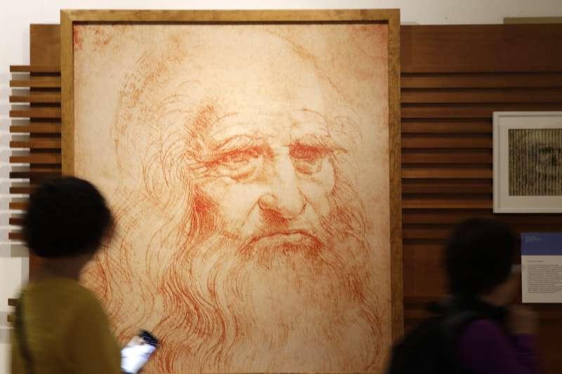 達文西(Leonardo da Vinci)的畫像(AP)