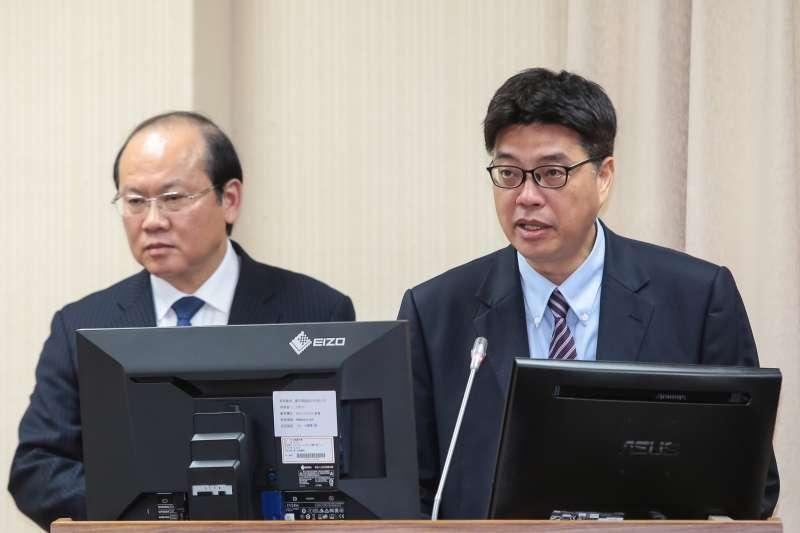 20190502-陸委會副主委邱垂正2日於外交國防委員會備詢。(顏麟宇攝)