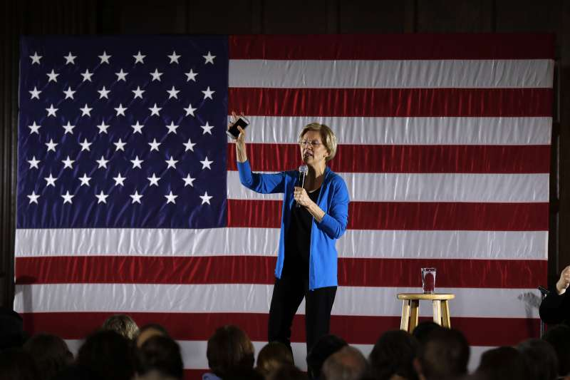 民主黨籍麻州聯邦參議員華倫投入2020年總統選戰(美聯社)