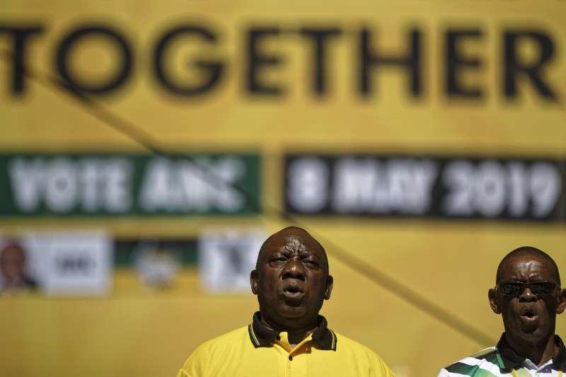 南非執政黨非洲民族議會(ANC)候選人拉馬福薩。(美聯社)