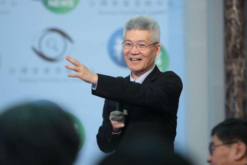 20190506-優質新聞發展協會理事長胡元輝6日出席「台灣事實查核中心與華視新聞合作記者會」記者會。(顏麟宇攝)