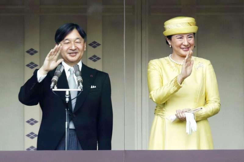 日本天皇德仁與皇后雅子22日舉行「即位禮正殿之儀」。(美聯社)