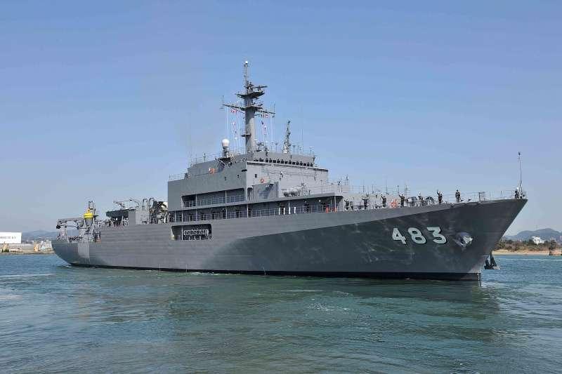 日本海上自衛隊的「室戶」號敷設艦。(海上自衛隊官網)