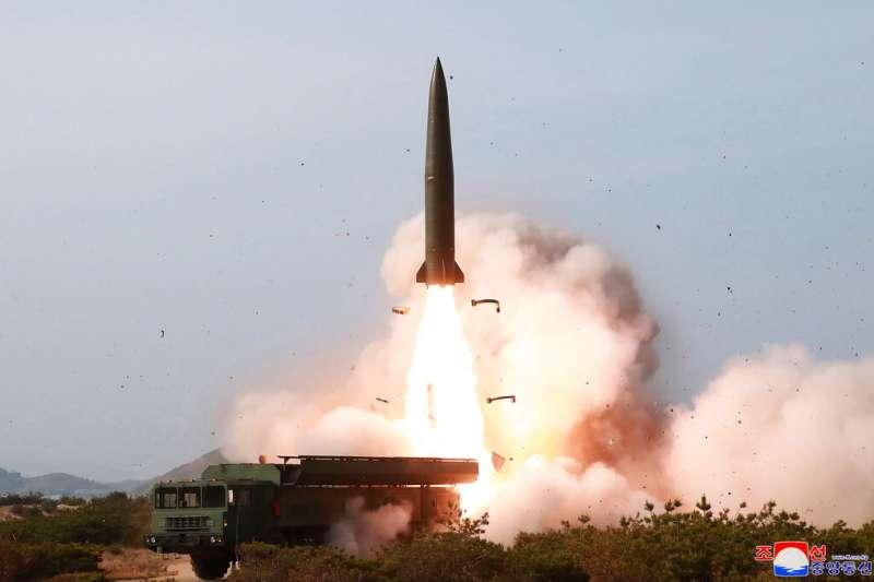 北韓的戰術制導武器(即短程飛彈)。(美聯社)