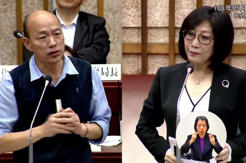 高市議員康裕成遭韓粉指稱要對韓國瑜砸派。(資料照,圖/翻攝高市議會監視畫面)