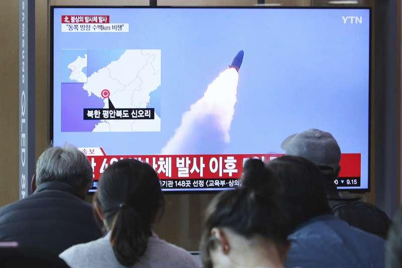 2019年5月9日,北韓再度進行飛彈試射(AP)