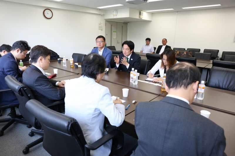 2019年5月11日,前行政院長賴清德至日本東京大學與學者座談(賴清德團隊提供)
