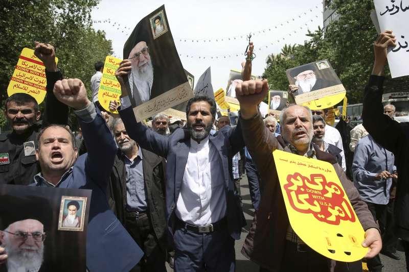 伊朗與美國是世仇,經常爆發反美示威(AP)