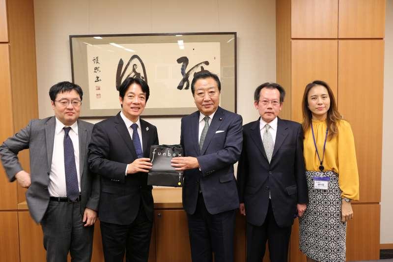 前行政院長賴清德(左二)12日結束訪日,拜訪了3位日本卸任總理海部俊樹、森喜朗、野田佳彥(右二),對此他自認「成果超乎自己原本的預期」。(資料照,賴清德陣營提供)