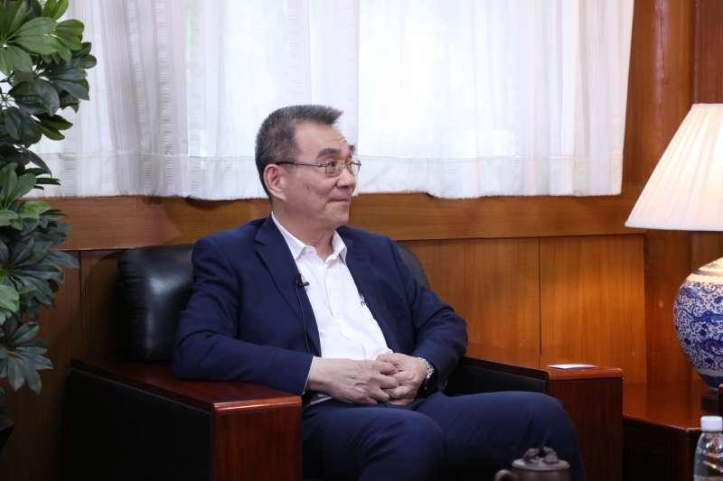 林毅夫表示,貿易戰更多是想給中國未來發展製造障礙。(郭宏治攝)