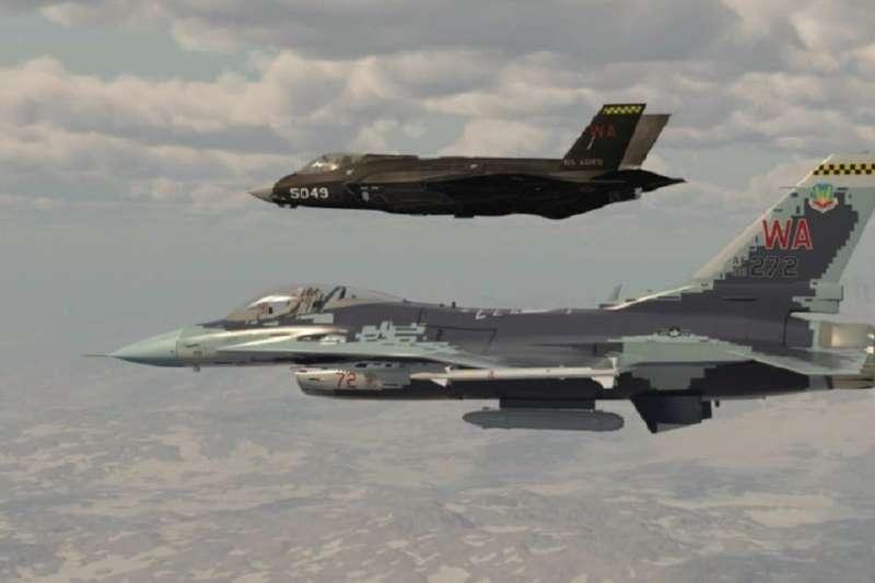 美軍成立史上第一支以F-35組建的假想機中隊。(翻攝57th Wing Commander臉書)