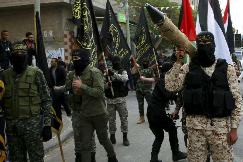 敘利亞內戰親政府民兵團體「聖城旅」,由敘利亞的巴勒斯坦人組成。(美聯社)