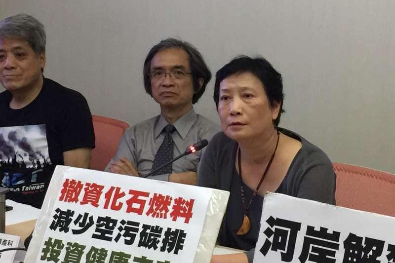 20190517-台大醫院麻醉科主任鄭雅蓉提到多年前數名台大醫師被檢驗出罹患肺腺癌。(台灣健康空氣行動聯盟提供)