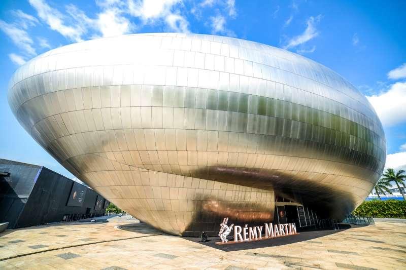 於深圳OCT創意展示中心的人頭馬之家外觀。(圖/人頭馬)